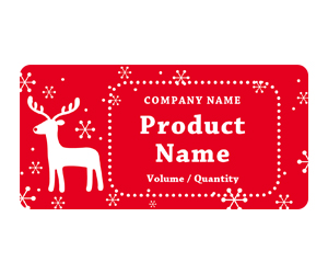 This is a preview of the Red Rudolph Adhesive Labels 5163