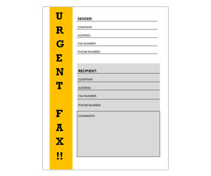 This is a preview of the Urgent Fax Coversheet