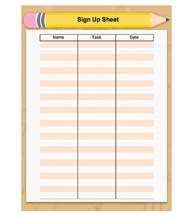 This is a preview of the Back-to-School Sign-Up Sheet