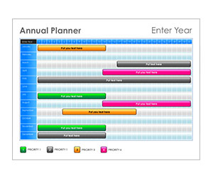 This is a preview of the Jewel Tone Annual Planner