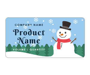 This is a preview of the Merry Xmas Snowman Adhesive Labels