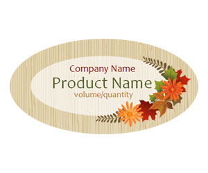 This is a preview of the Fall Wreath Adhesive Labels