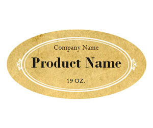 This is a preview of the Rustic Vintage Adhesive Label