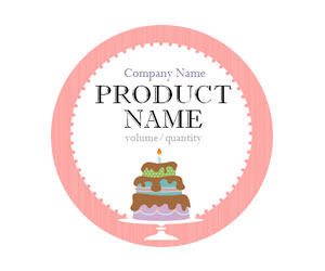 This is a preview of the Tiered Cake Adhesive Labels