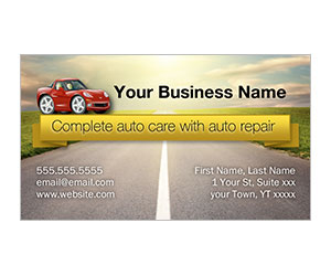 This is a preview of the Auto Repair Business Card