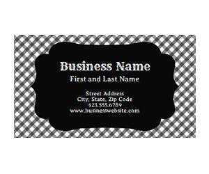 This is a preview of the Black Checkerboard Business Card