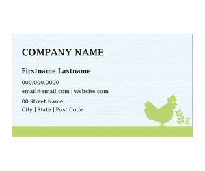 This is a preview of the Organic Farm Business Card