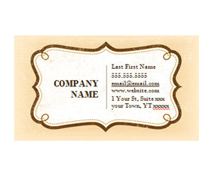 This is a preview of the Rustic Vintage Business Card