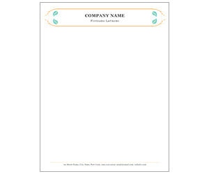 This is a preview of the Landscaper Letterhead