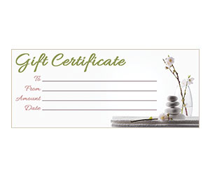 This is a preview of the Orchid Zen Gift Certificate