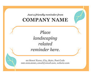 This is a preview of the Landscaper Postcard