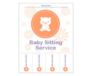 This is a preview of the Baby Care Flyer