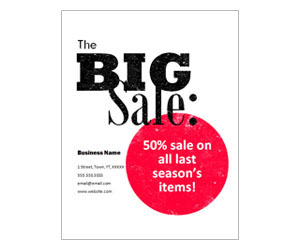 This is a preview of the Big Sale Flyer