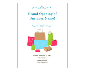 This is a preview of the Boutique Grand Opening Flyer
