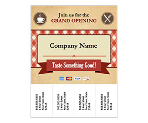 This is a preview of the Grand Opening Cafe Tear Flyer