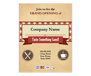 This is a preview of the Grand Opening Cafe Flyer
