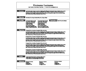 This is a preview of the Industrial Lines Resume