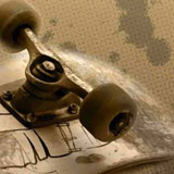 Khaki Skateboard Background
