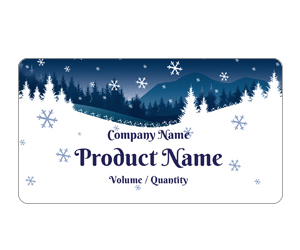 This is a preview of the Winter Wonderland Adhesive Labels (Avery 5163)