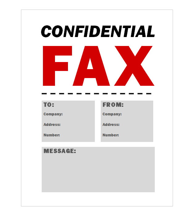 This is a preview of the Confidential Fax Coversheet