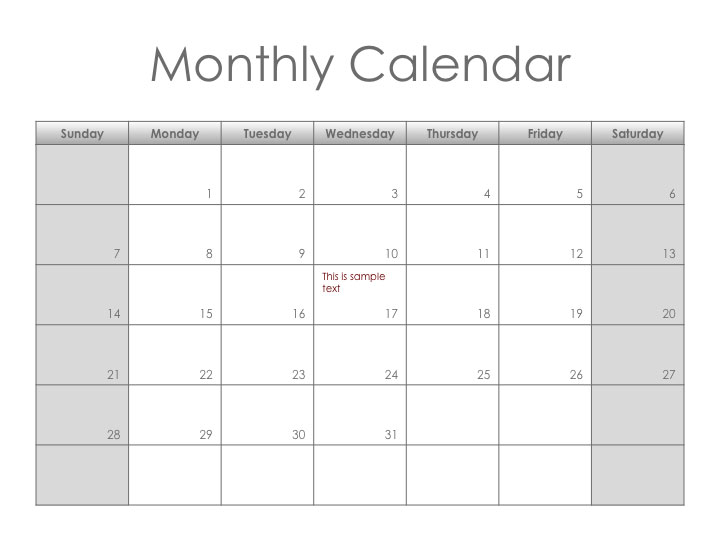 This is a preview of the Monotone Monthly Planner
