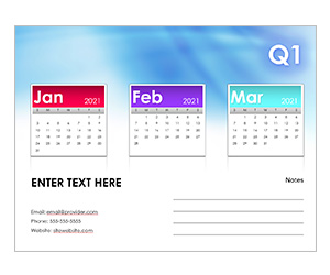 This is a preview of the Quarterly Calendar Snapshot