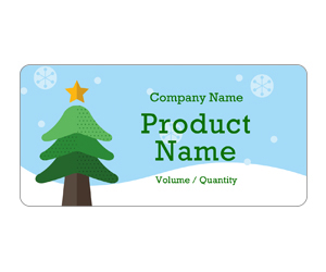 This is a preview of the Christmas Tree Adhesive Labels 5163