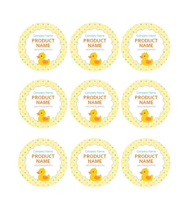 This is a preview of the Baby Ducky Adhesive Label