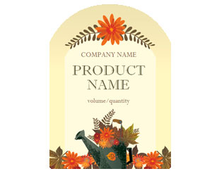 This is a preview of the Fall Florals Adhesive Labels