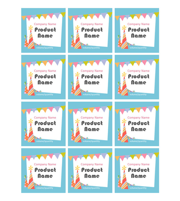 This is a preview of the Party Decor Adhesive Labels