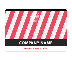 This is a preview of the Red Stripes Bag Topper