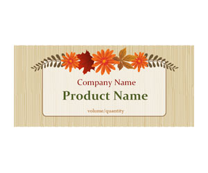 This is a preview of the Fall Wreath Wrapper Label