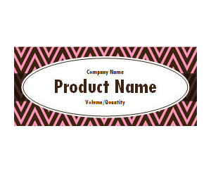 This is a preview of the Pink Brown ZigZags Wrapper Label