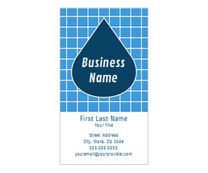 This is a preview of the Blue Teardrop Business Card