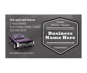 This is a preview of the Classic Car Business Card