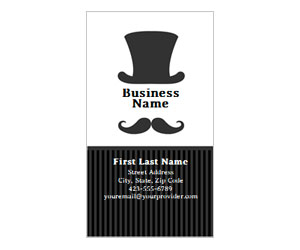 This is a preview of the Classic Sir Business Card