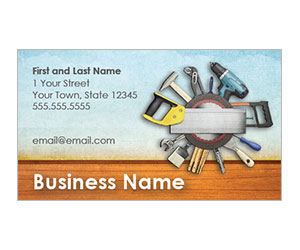 This is a preview of the Home Tools Business Card Style 1