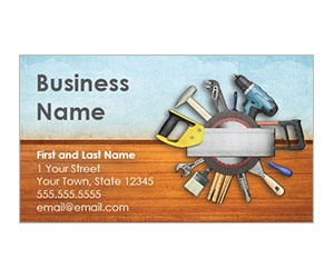 This is a preview of the Home Tools Business Card Style 2