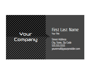 This is a preview of the Industrial Stripes Business Card