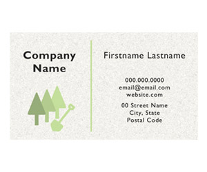 This is a preview of the Landscaper Minimal Business Card