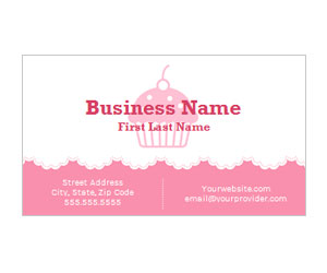 This is a preview of the Pink CupCake Business Card