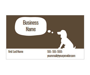 This is a preview of the Playful Pup Business Card