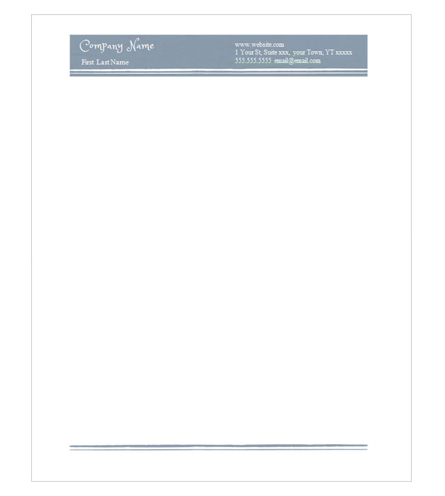 This is a preview of the Blue Antique Letterhead
