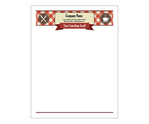 This is a preview of the Cafe Letterhead