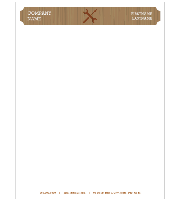 This is a preview of the Handyman Letterhead