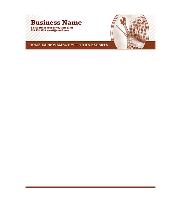This is a preview of the Vintage Repair Letterhead