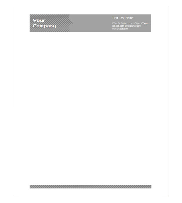 This is a preview of the Industrial Stripes Letterhead