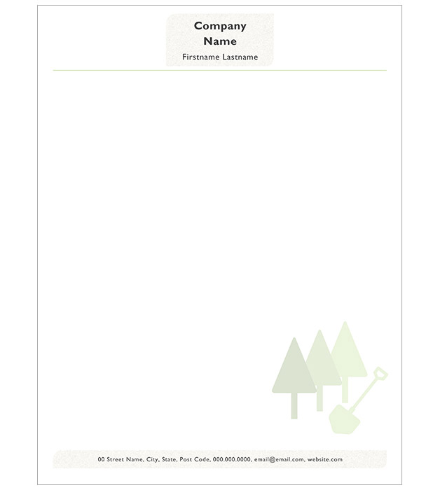 This is a preview of the Landscaper Minimal Letterhead