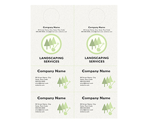 This is a preview of the Landscaper Minimal Door Hanger