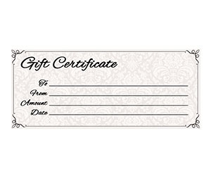 This is a preview of the Classic Antique Gift Certificate